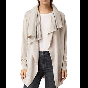 New All Saints Cream Dahlia Cardigan Sweater